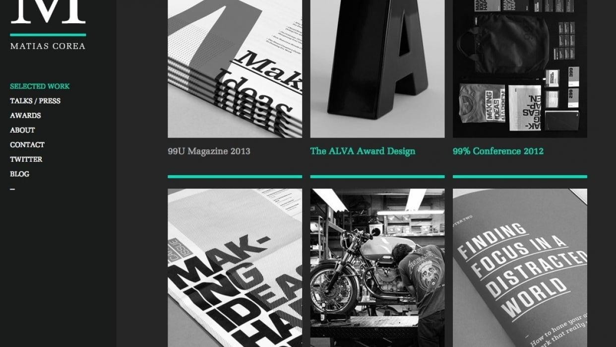 Matias Corea's Portfolio Site - student project