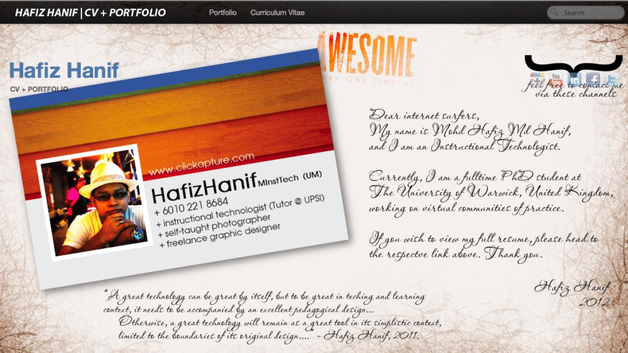 Revamp My CV + Portfolio Site - student project