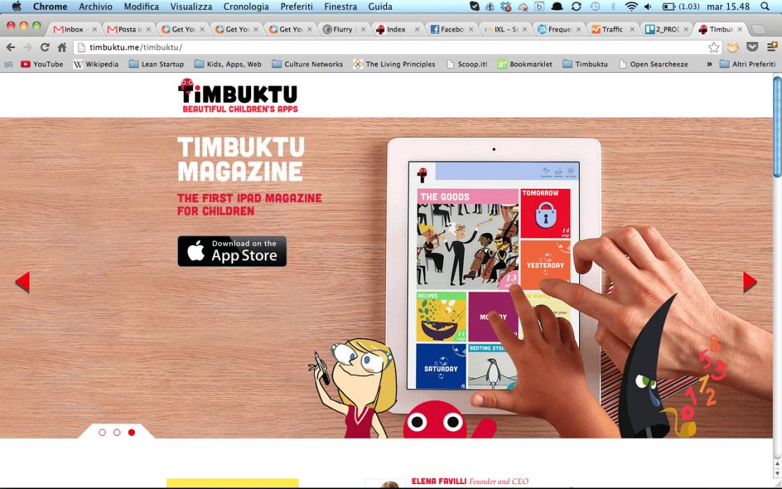 Timbuktu - iPad Magazine for children - student project