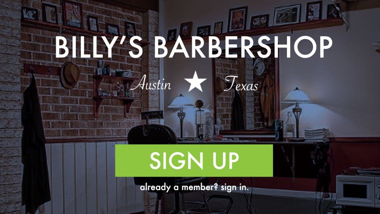 Billy's Barbershop - student project