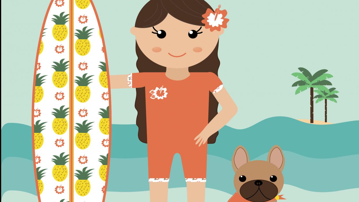 Hello Sunshine - A summer print - student project
