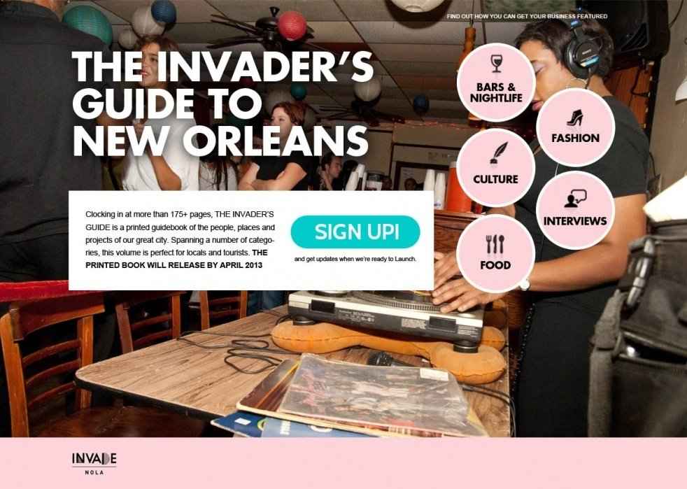 The Invader's Guide to New Orleans - student project