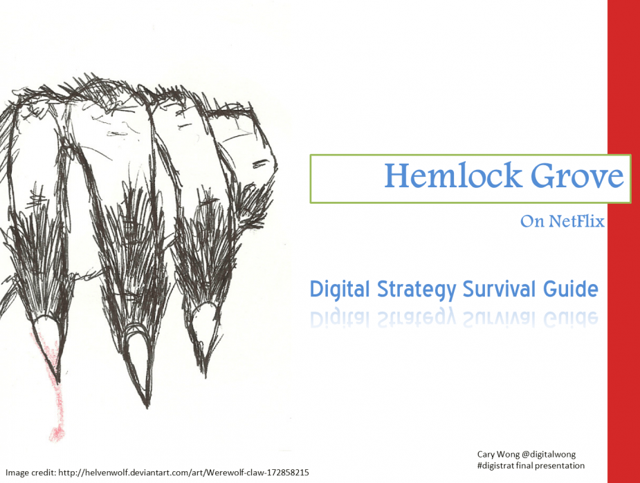 Hemlock Grove - Digital Strategy Survival Guide - student project