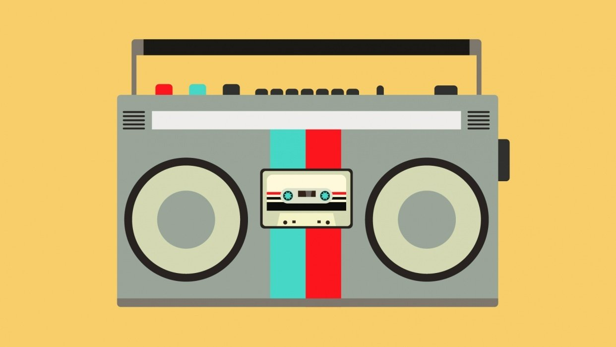 BoomBox Old School Style - student project