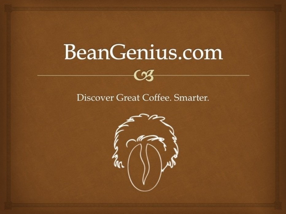 BeanGenius - 'Discover Great Coffee. Smarter.' - student project