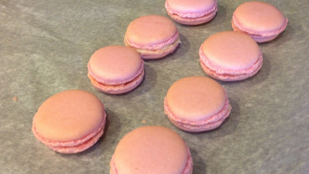 First Attempt Making French Macaroons - student project