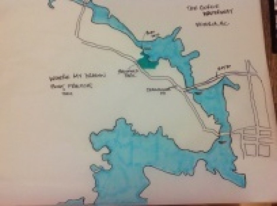 Map of Victoria's Gorge Waterway - Where my Dragon boat team practices - student project