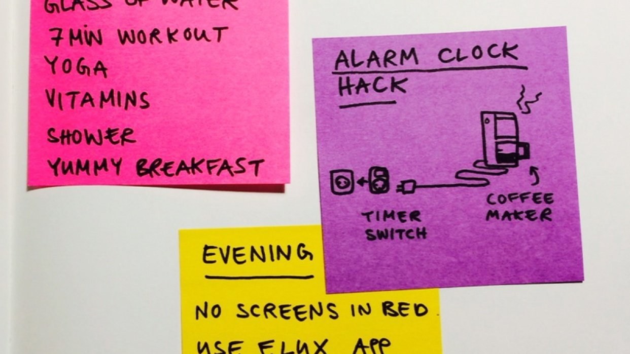 building an evening and morning routine - student project