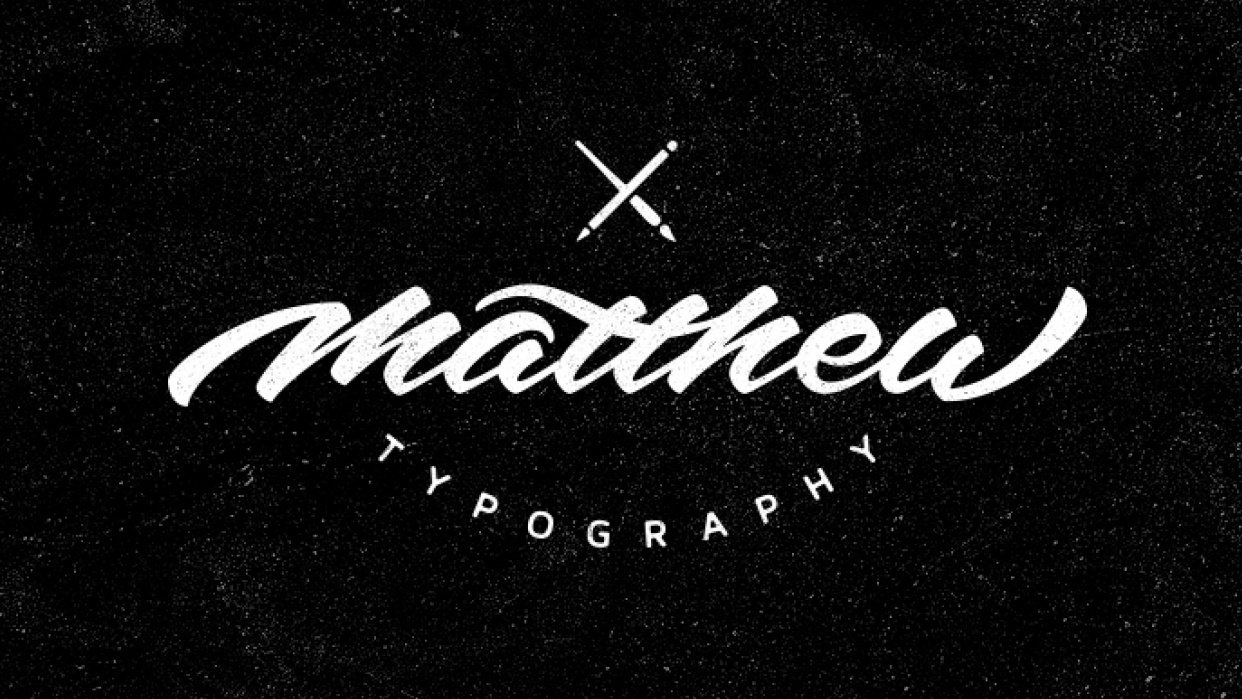 Sample Project: My first name as a signature logo - student project