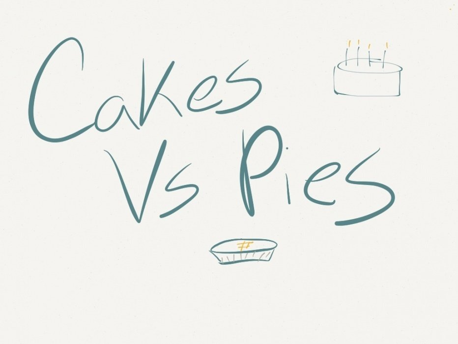 Cakes VS Pies - student project