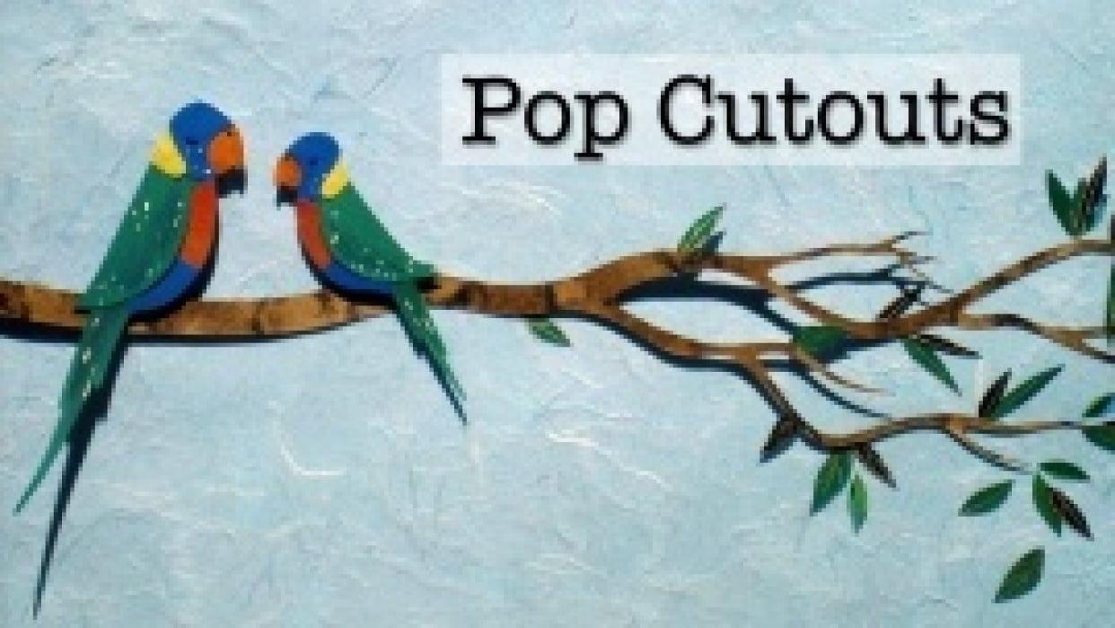 Popcutouts Portfolio Site - student project