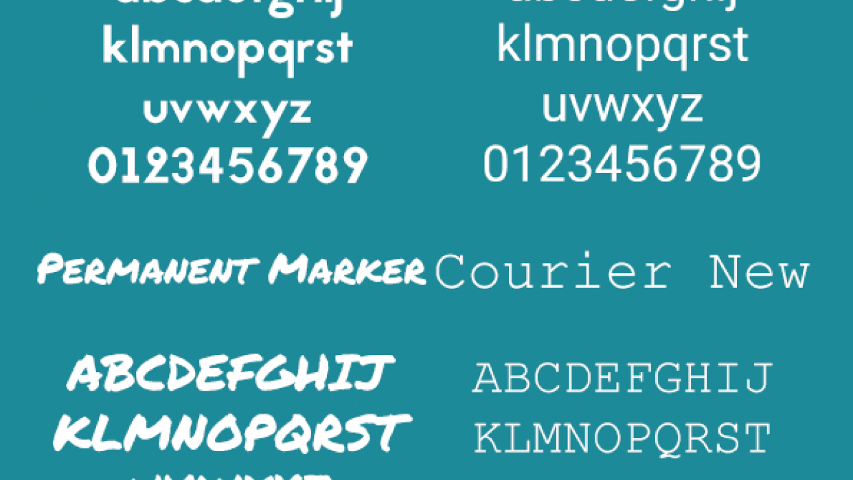 Top 4 Fonts - student project