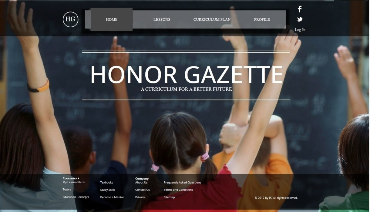 Honor Gazette - student project