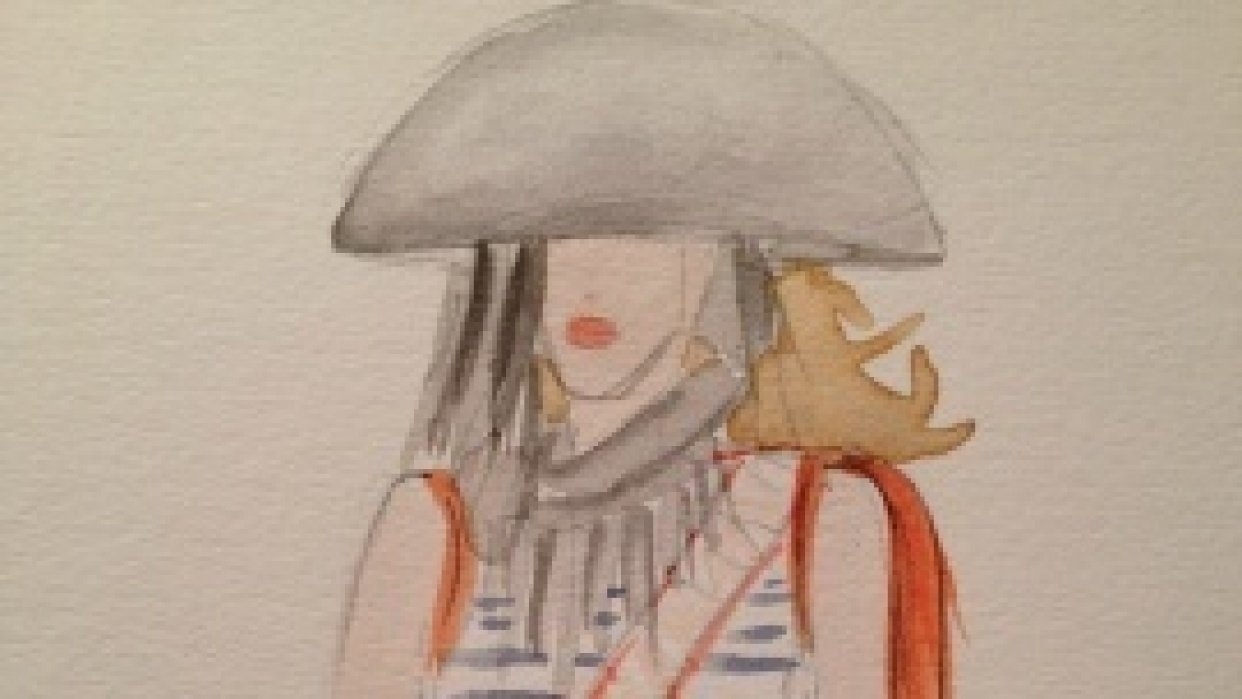 Final embellished watercolors: Silk and Tulle - student project