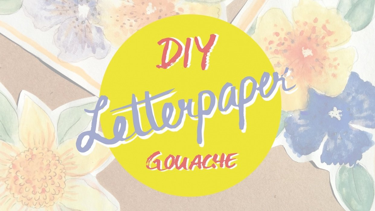 DIY Letter Paper with Gouache Flowers - student project