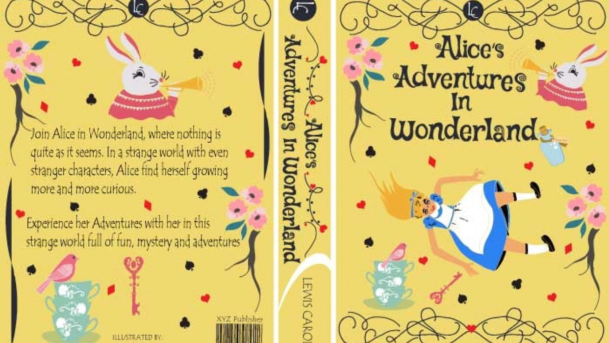 ALICE IN WONDERLAND BOOK COVER PROJECT UPDATED  - student project