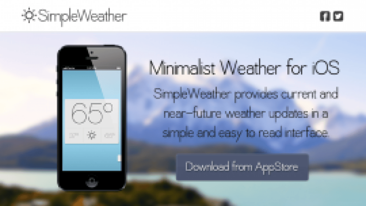 SimpleWeather for iPhone - student project