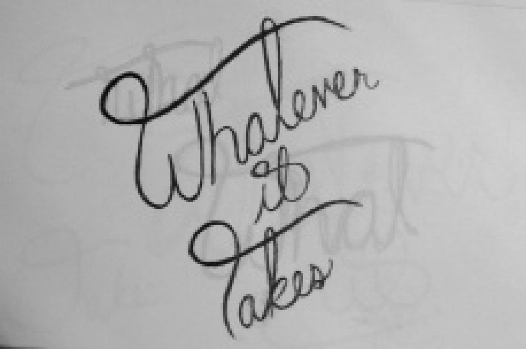 Whatever it takes. - student project