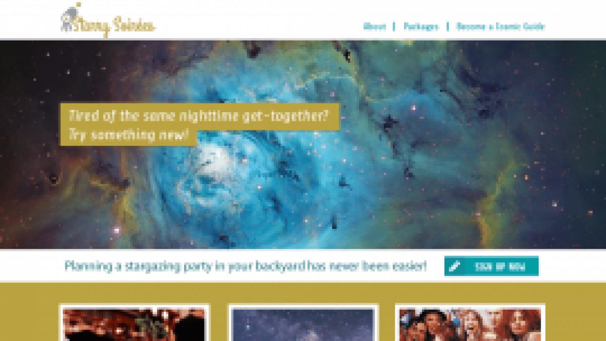 Starry Soireés - student project