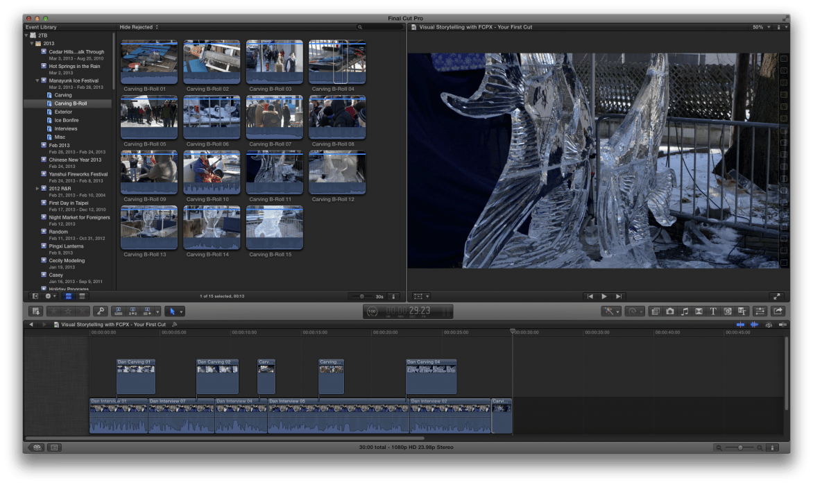 Visual Storytelling with FCPX - Your First Cut - student project