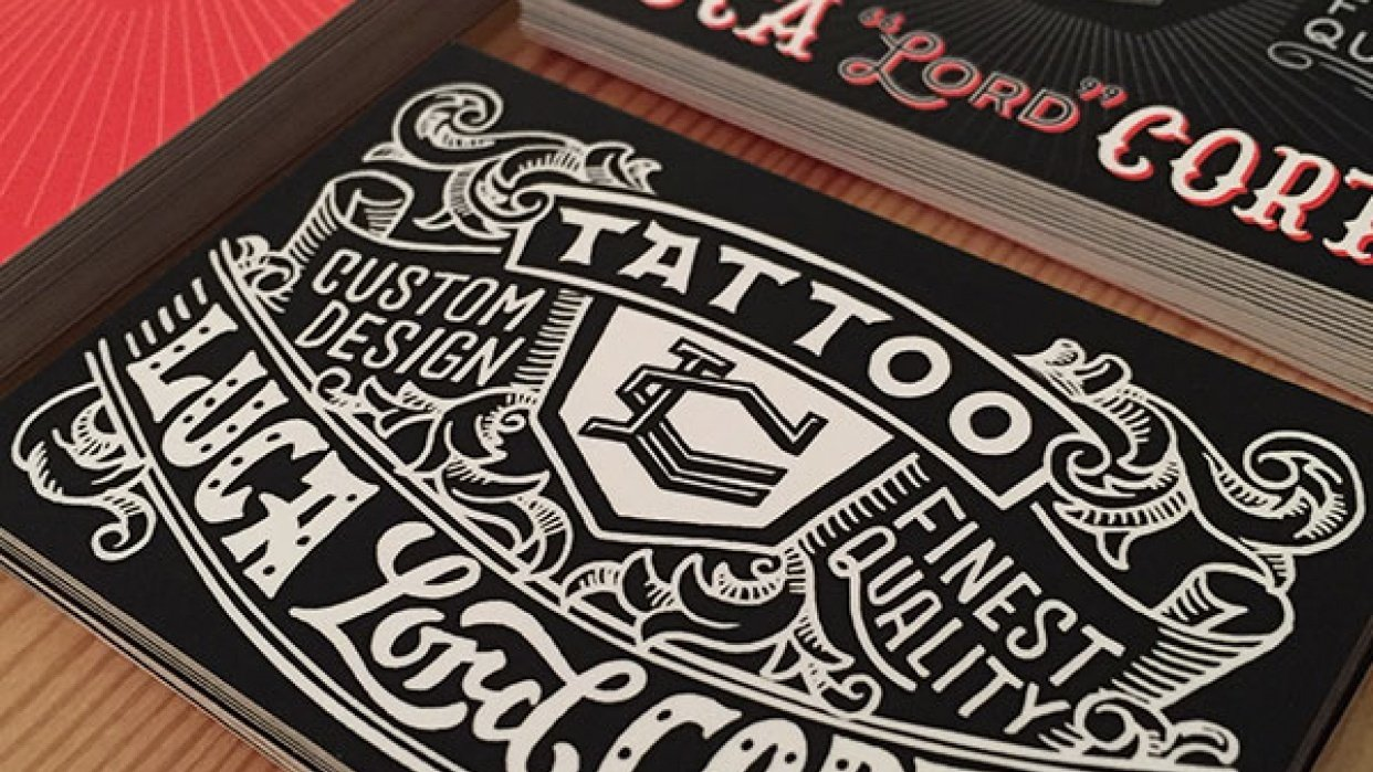 Tattoo Business Card - student project
