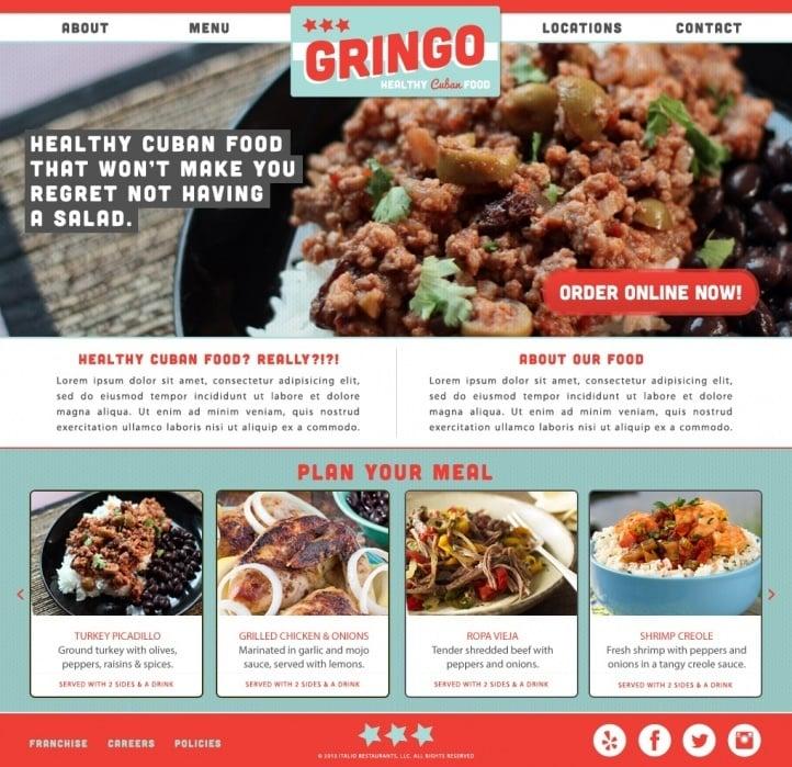 Gringo - Healthy Cuban Food - student project