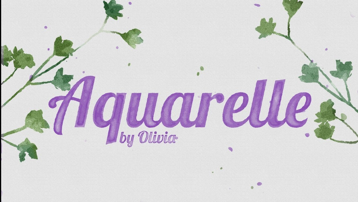 Aquarelle - student project