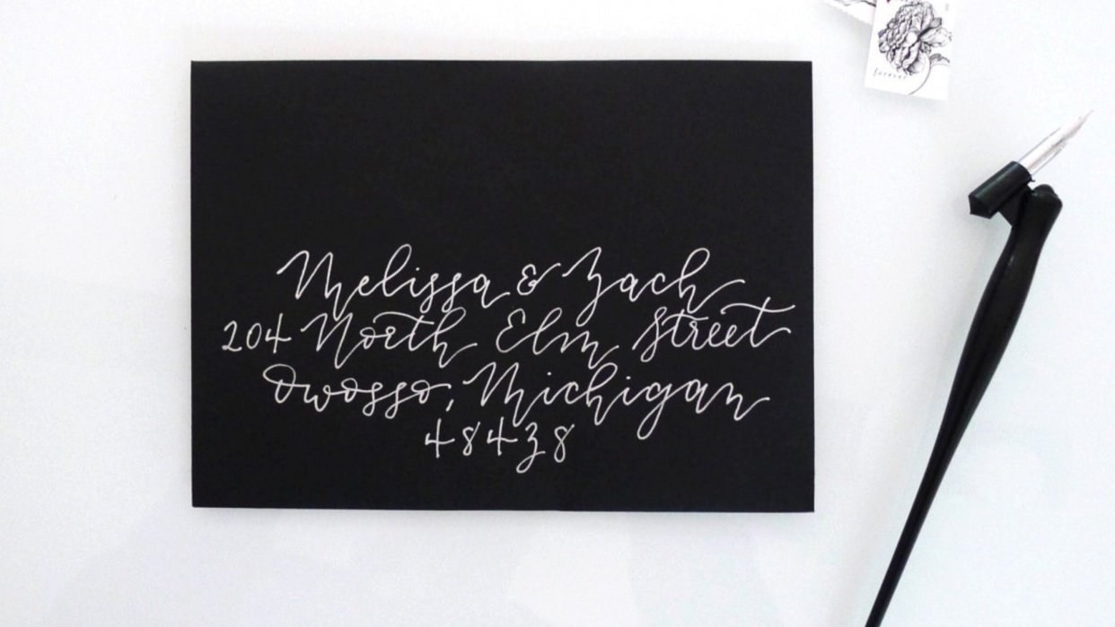 Calligraphed Envelope Project and Experiments - student project