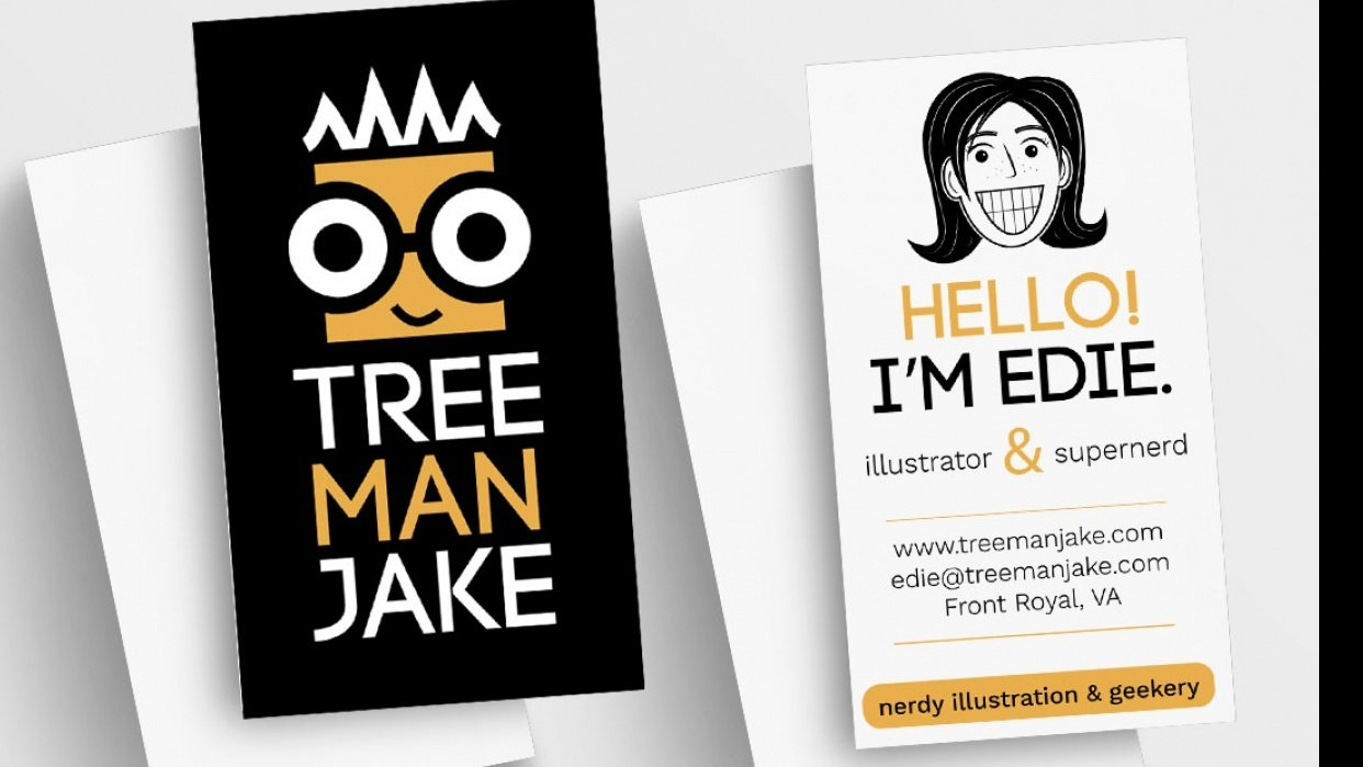 treemanJAKE Business Card - student project