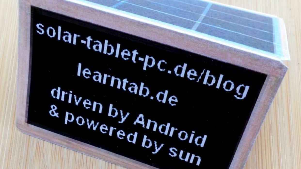 Solar tablet holder as 3D-print - student project