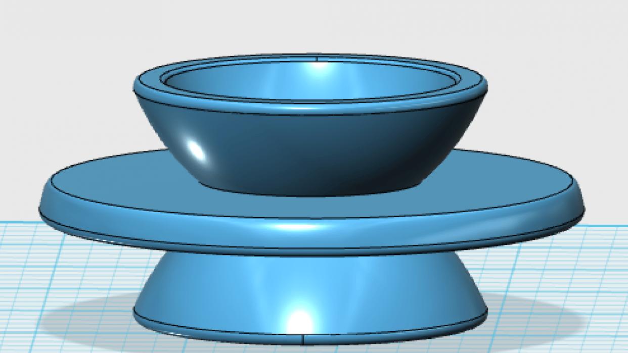 Herbal Tea Mug Lid in Ceramic - student project