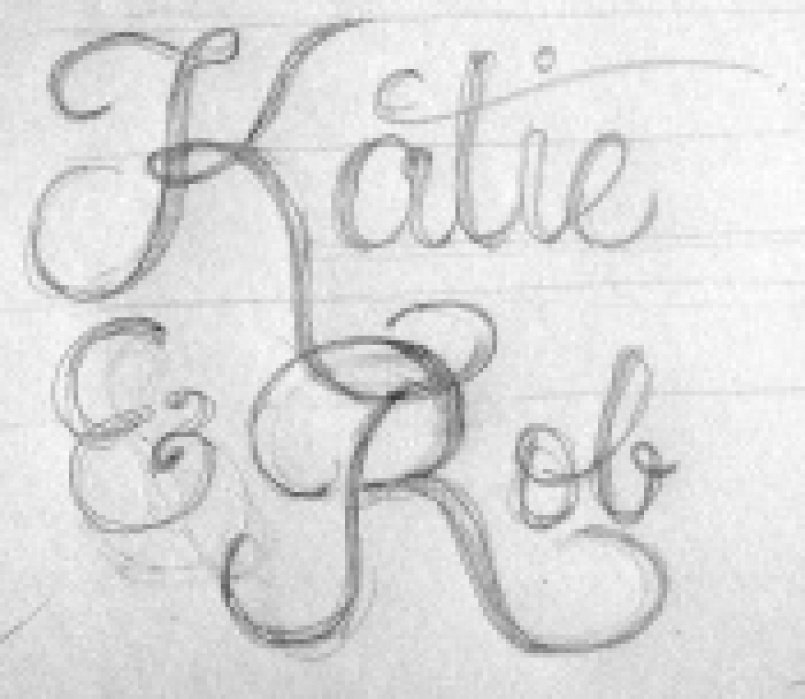 Lettering for my Wedding Stationary - student project