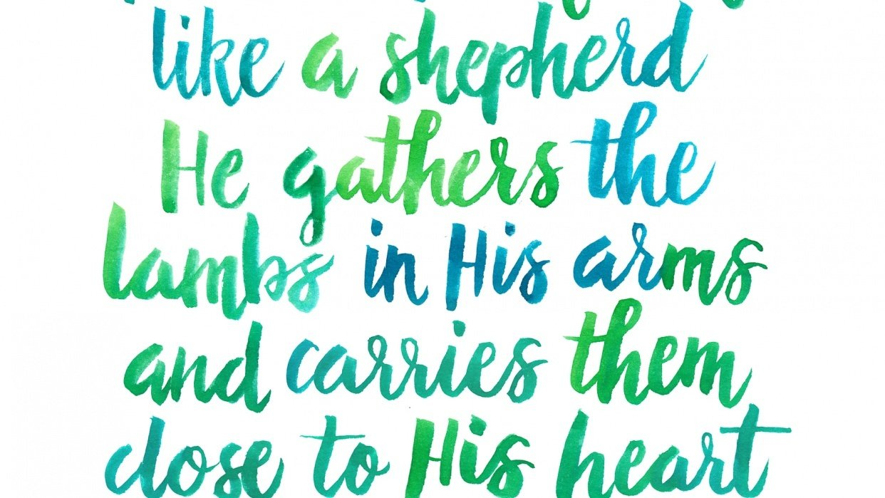 Bible Verse Sympathy Card - student project