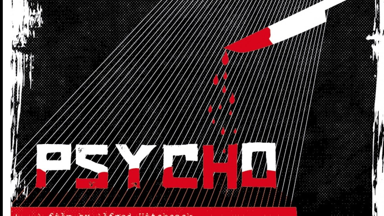 """Poster """"PSYCHO"""" - student project"""