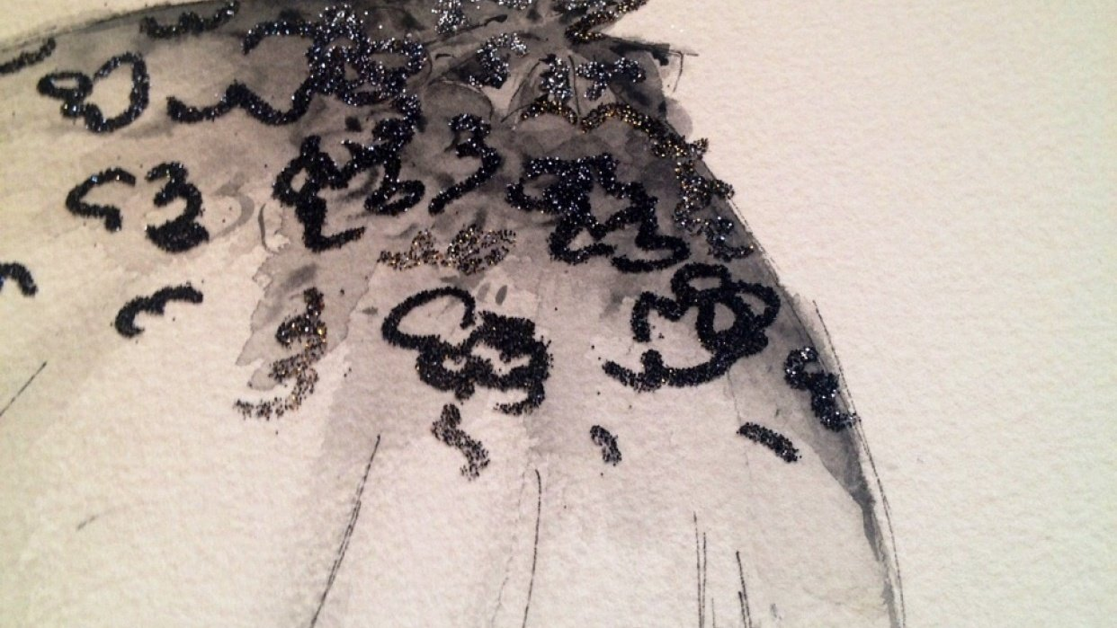 Embellished :For the love of Black, with a touch of Bold. - student project