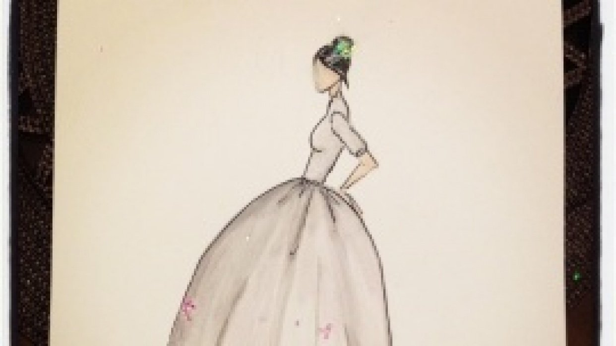 FINAL ~ EMBELLISHED ~ WATERCOLOR ~ SKETCHES ~ Feminine Ways - student project