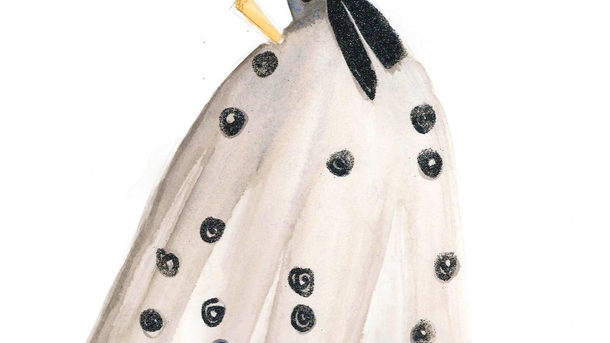 FINAL embellishment/watercolor Melissa Nadine fashion illustration - student project