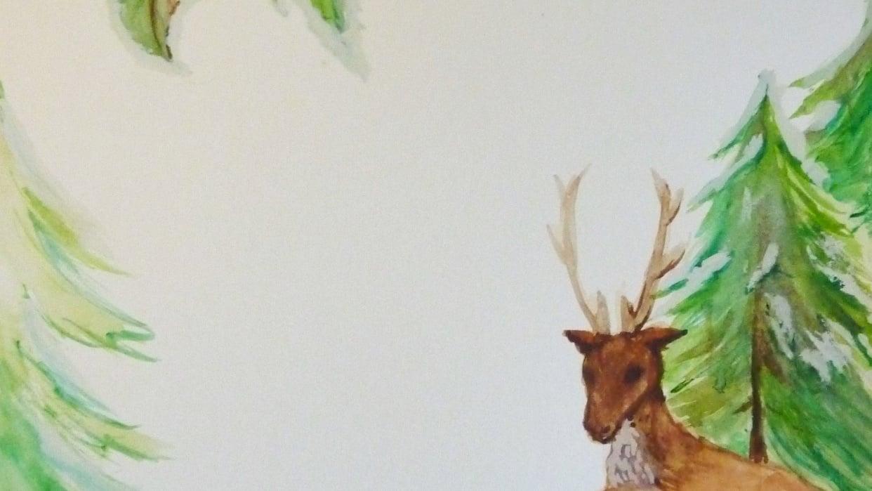 Festive Deer letterpaper - student project
