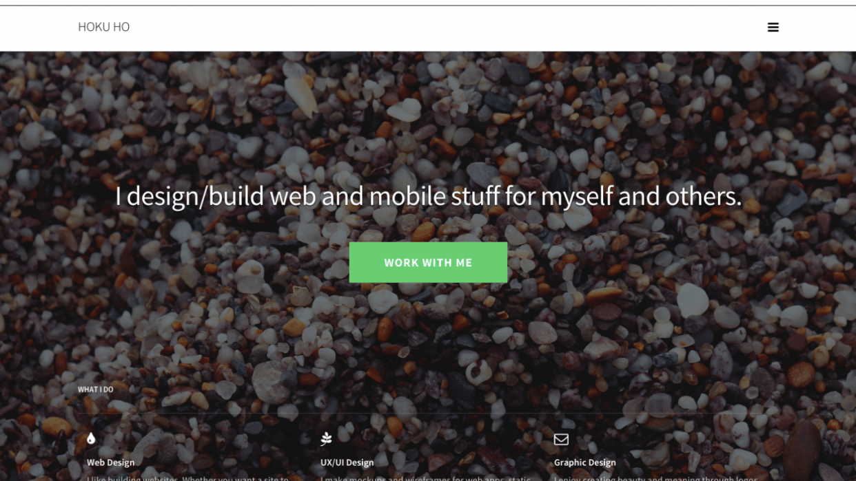 Hoku Ho's Finished Website - student project
