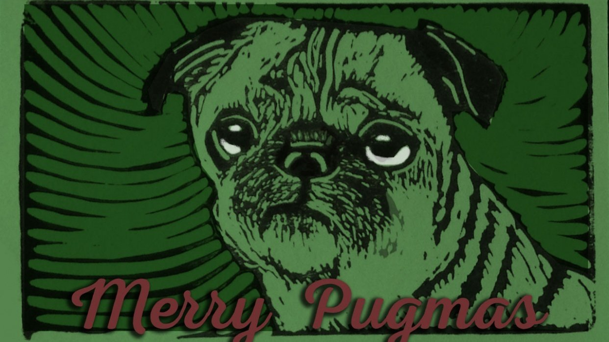 Pack of Pug Postcards - student project
