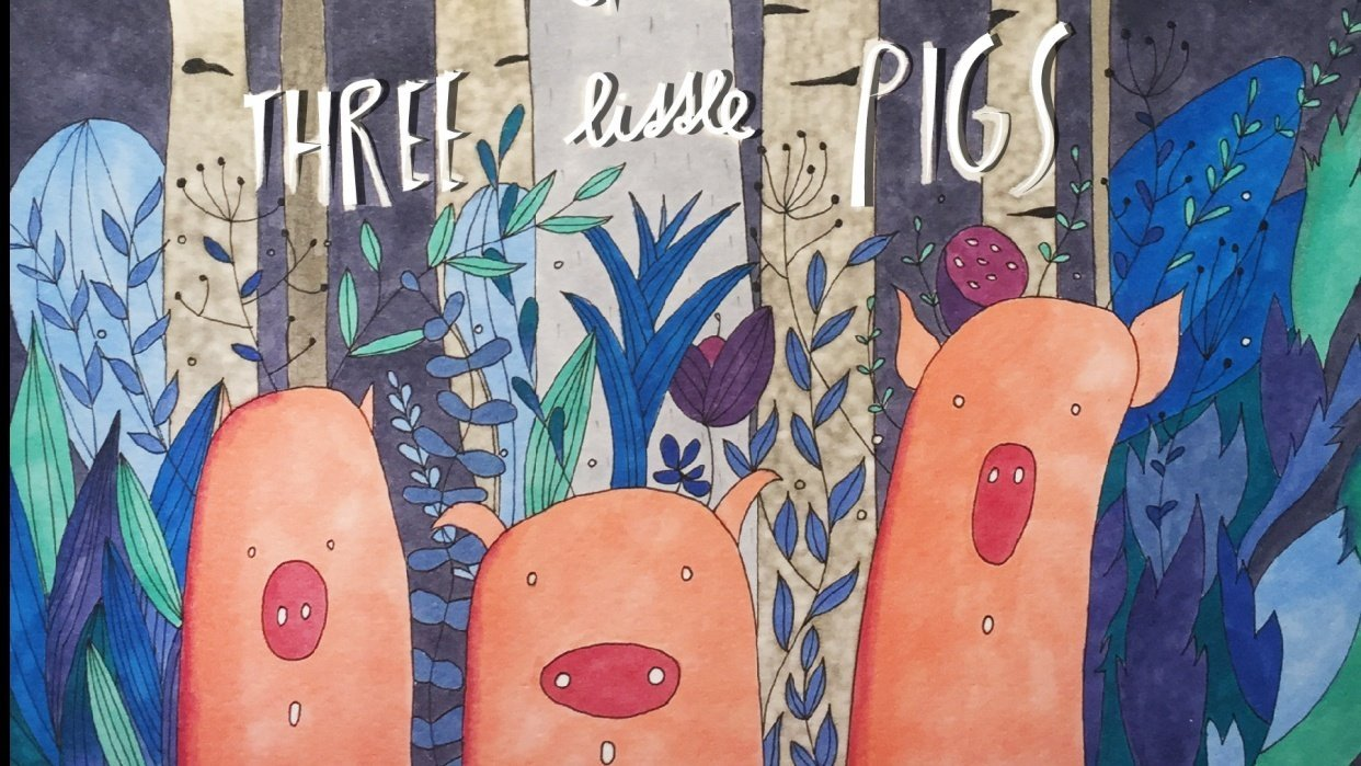 Book Cover: The story of the three little pigs - student project