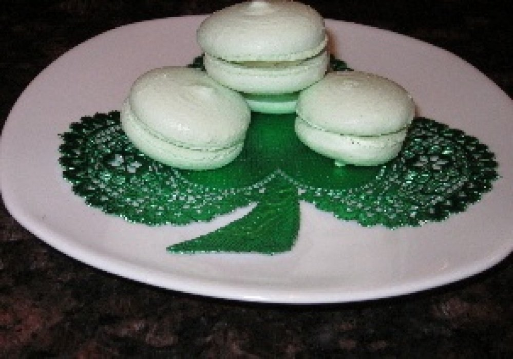 St. Patrick's Day macarons with Bailey's Irish Cream buttercream! - student project
