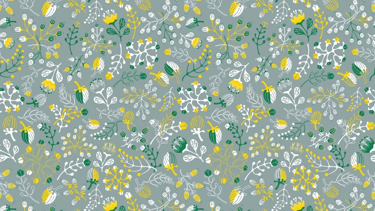 Floral Pattern Design Set - student project