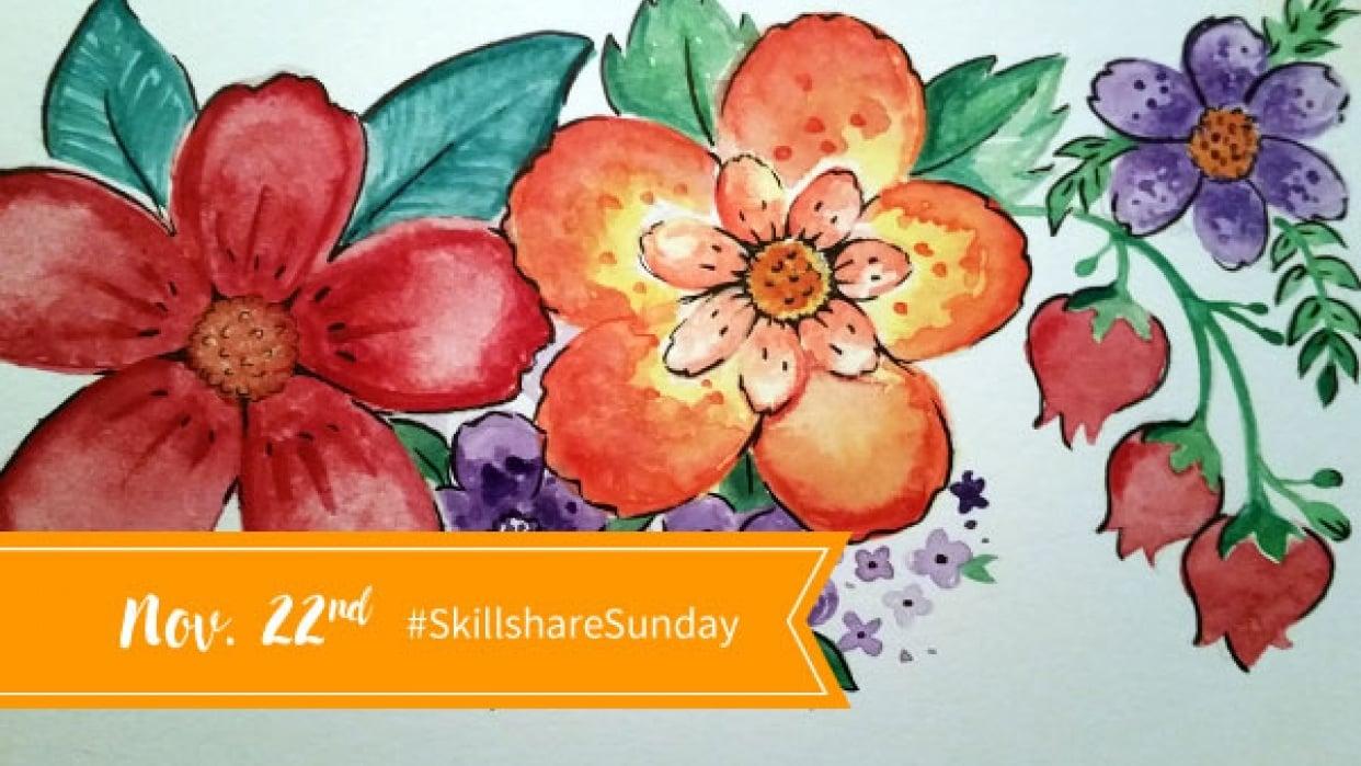 Skillshare Sunday: Gouachey Adventures!  - student project