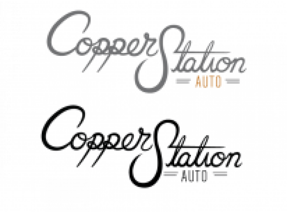 Copper Station custom type logo - student project