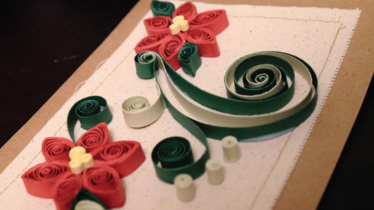 Quilled Christmas cards - student project