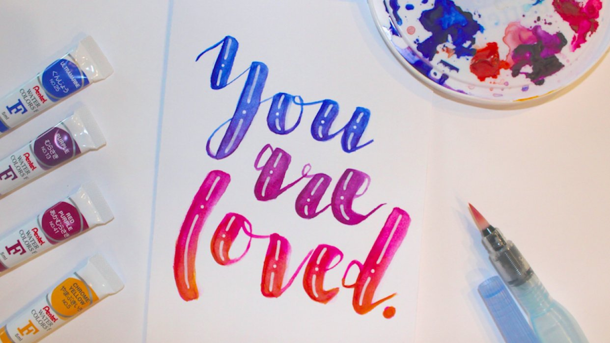 Greeting Card: You are Loved - student project