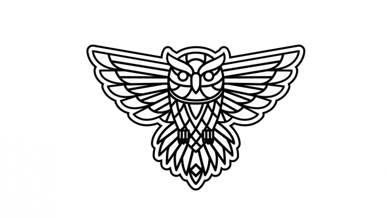 my owl for the pen tool project - student project