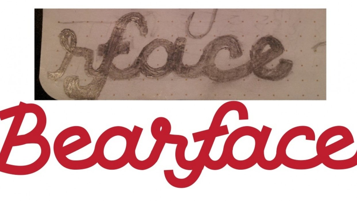 Bearface - Lettering - student project