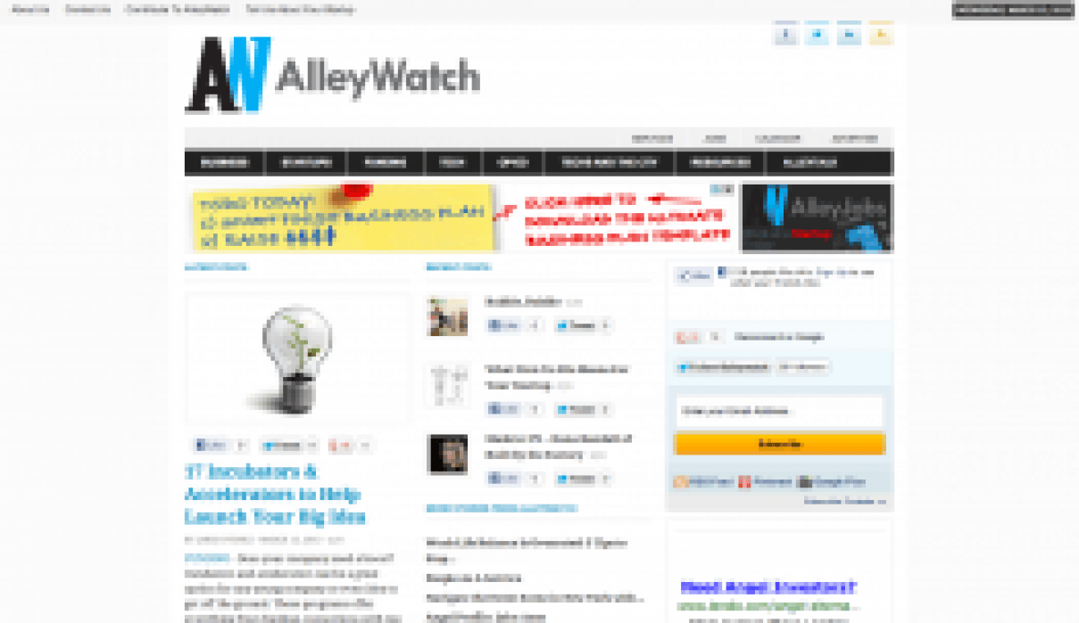 AlleyWatch - student project